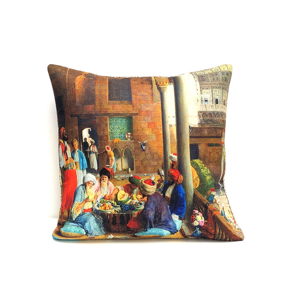Turkish Cushion Cover - Tea Time