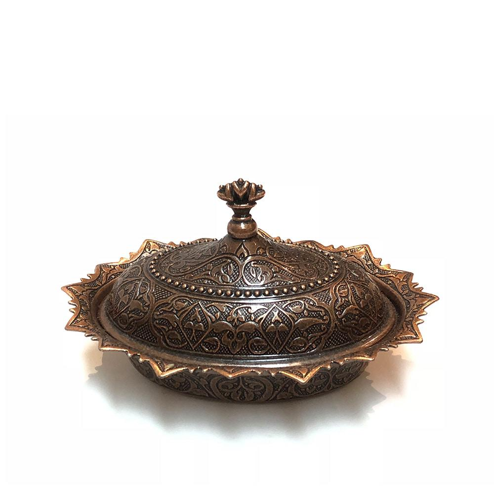 Oval Turkish Sugar Bowl - Bronze