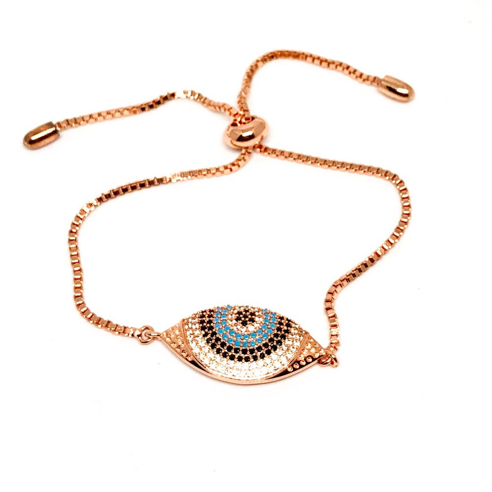 Turkish Nazar Evil Eye Adjustable Bracelet- RG