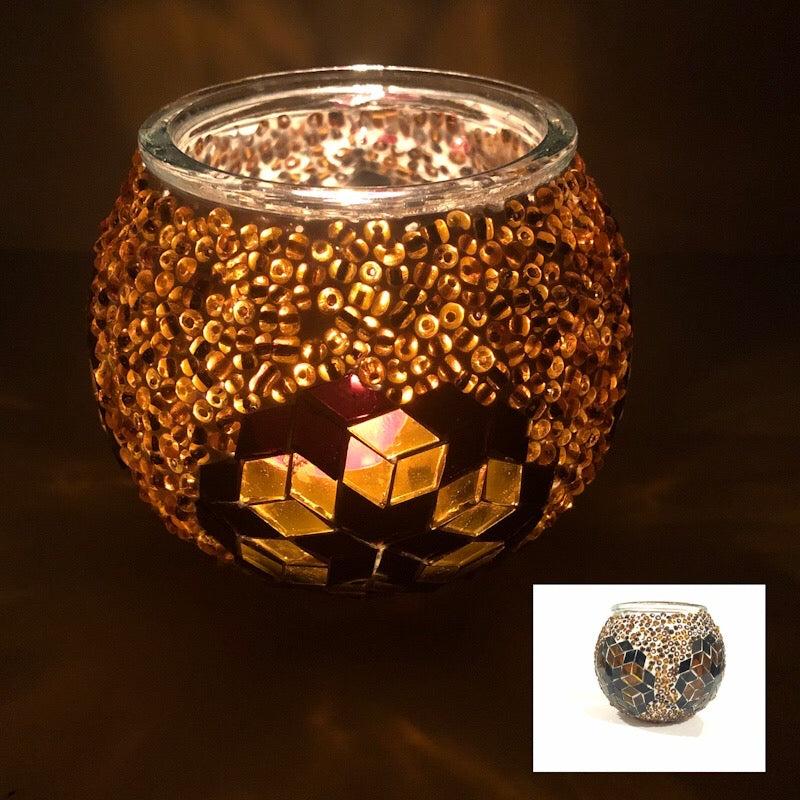 Mosaic Glass Handmade Candle Holder