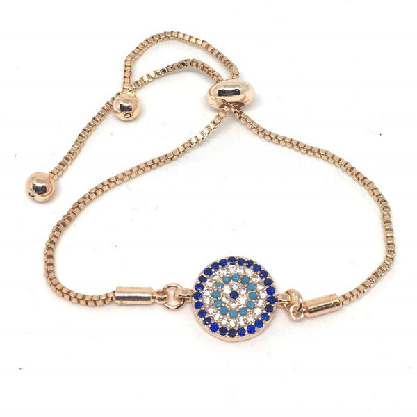 [BEST SELLER] Turkish Zirconia Nazar Adjustable Bracelet