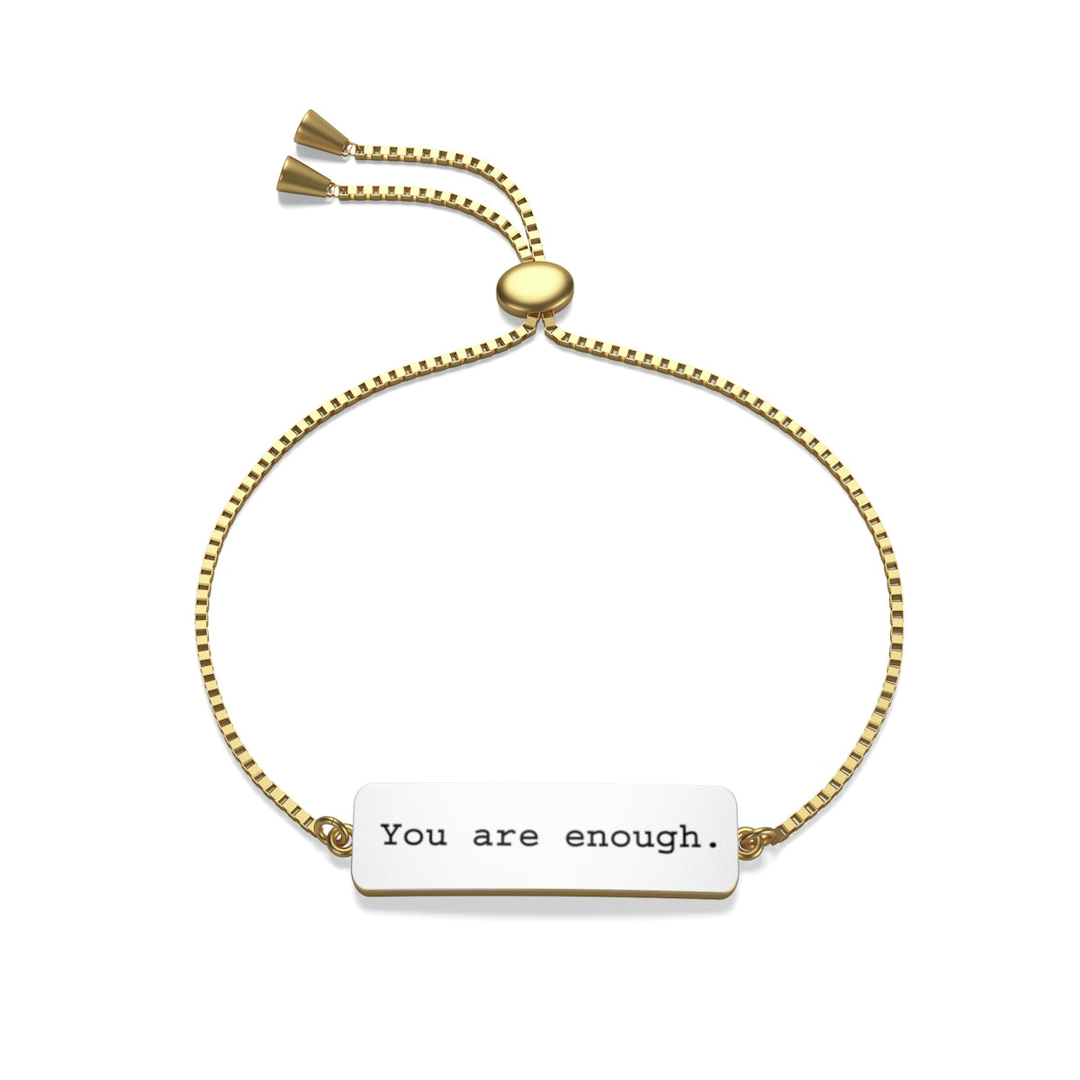 You are Enough Box Chain Bracelet