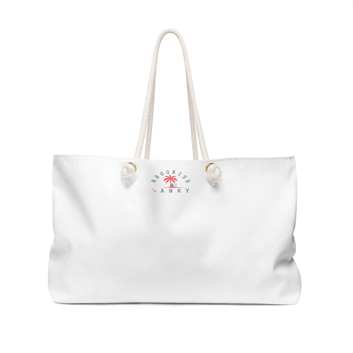 """Time To Do Fabulous"" Weekender Bag (White)"