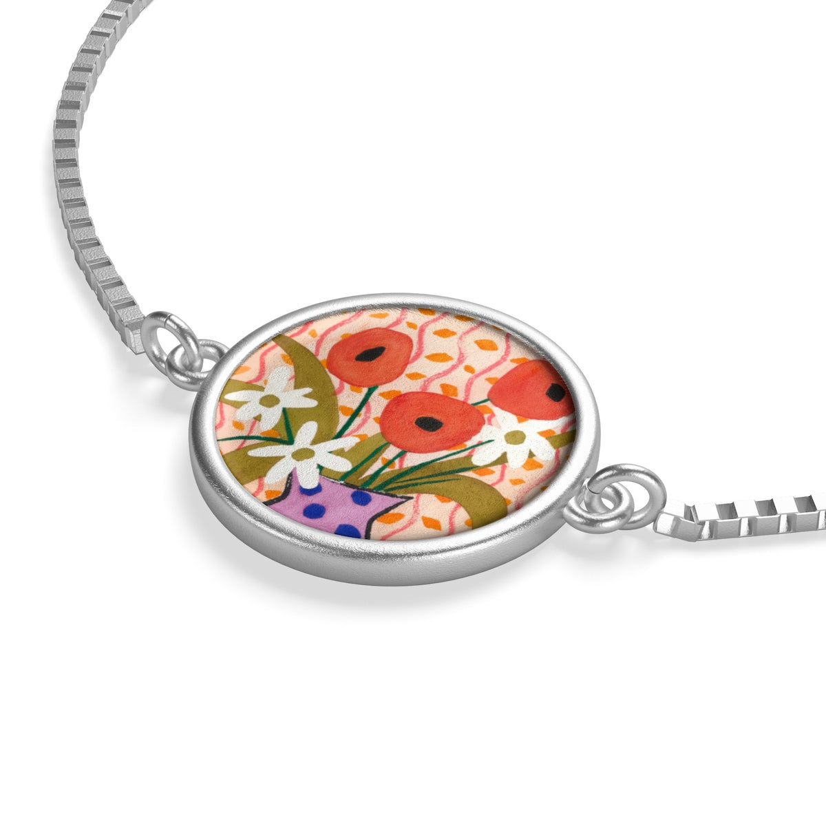 Like Matisse (Flower) Box Chain Bracelet
