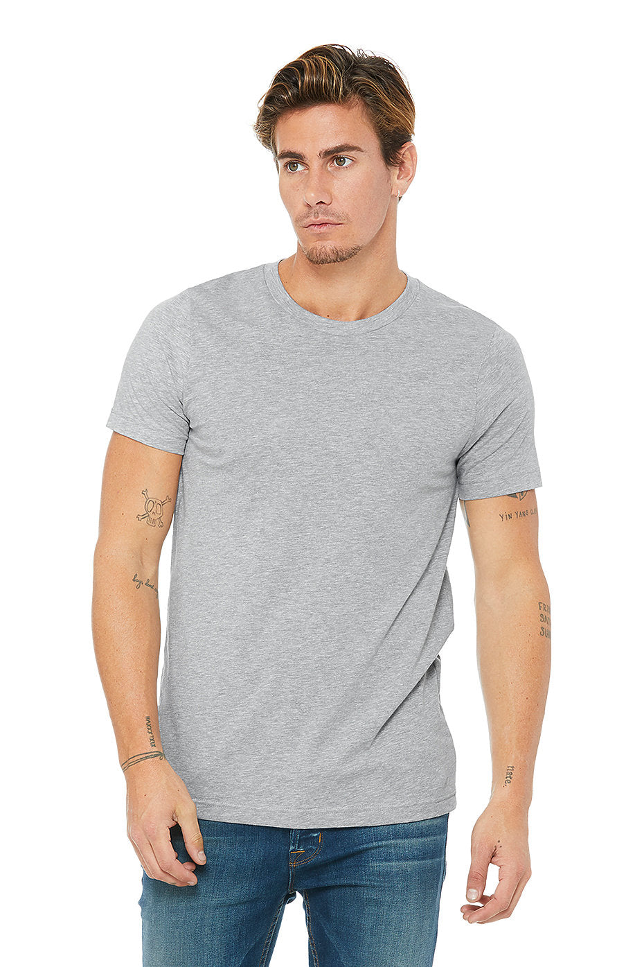 B&L Blank Heather Canvas Tee