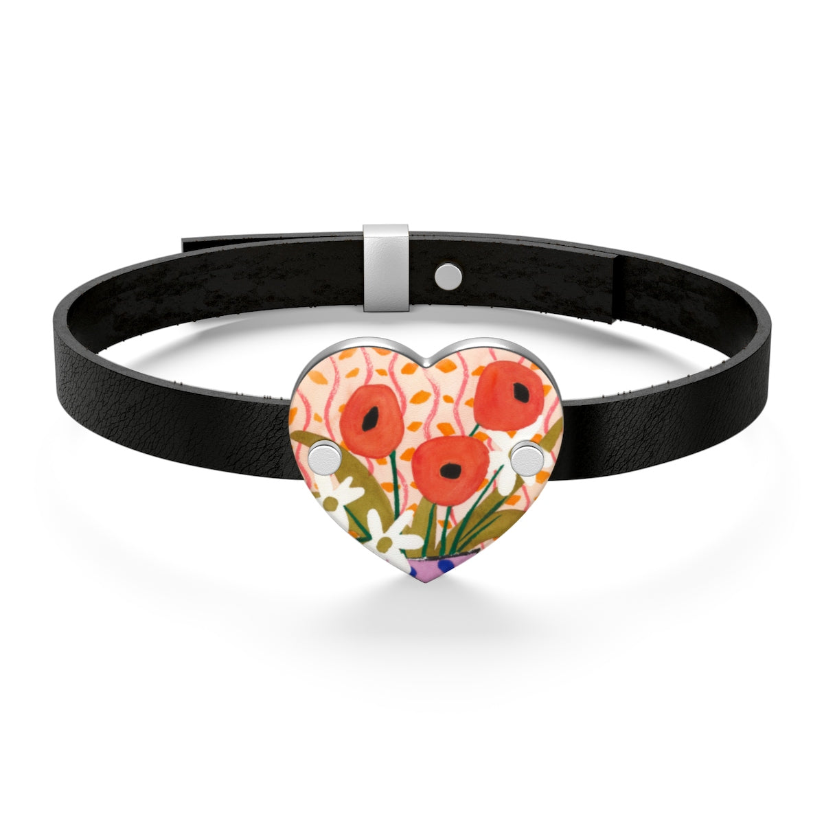 Like Matisse (Flower) Leather Bracelet
