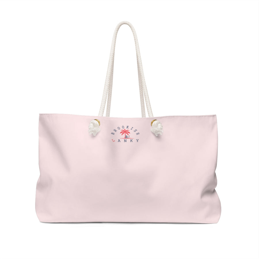 """Time to Do Fabulous"" Weekender Bag (Pink)"