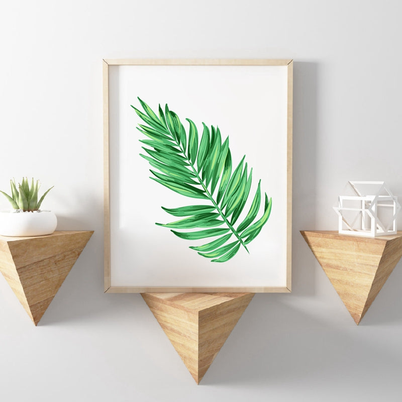 Brookish & Lanky Palm Tree Watercolor Picture