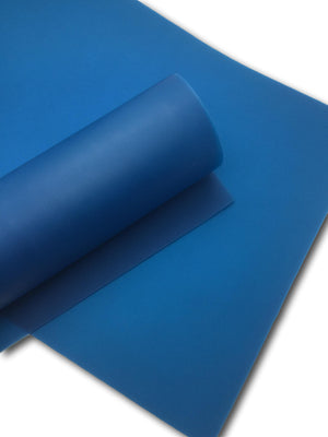 CAPRI BLUE Matte Jelly Sheets, Waterproof Jelly Material, Soft Touch PVC Fabric - 703