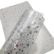 STAR JELLY SHEETS - Clear Jelly Material, Waterproof Jelly Sheets for Hair Bows - 737