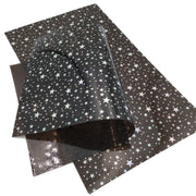 STAR JELLY SHEETS - Black Jelly Material, Waterproof Jelly Sheets for Hair Bows - 721