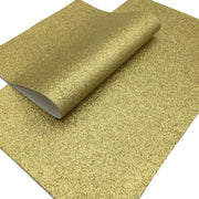 GOLD Fine Glitter Faux Leather Sheet, Glitter Sheets, Faux Leather Sheets, Leather for Earrings, Hair Bow Material - 464