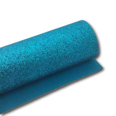 TURQUOISE Fine Glitter Sheet, MATCHING COLOR Backing Glitter Sheets, Faux Leather Sheets, Leather for Earrings, Hair Bow Material