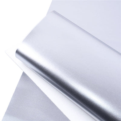 SILVER Glossy Faux Leather Sheets, Faux Leather, Patent Faux Leather, Vinyl Fabric Sheet