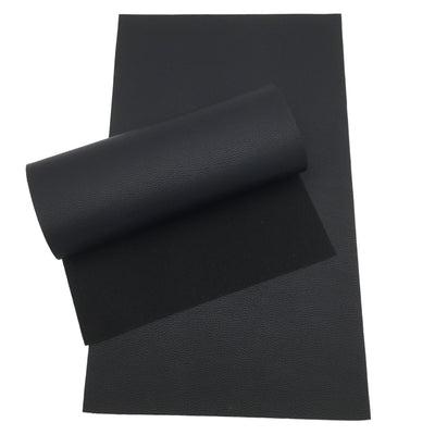 BLACK ONIX TEXTURED Faux Leather Sheets, Leather for Earrings, Fabric Sheet, Textured Leather