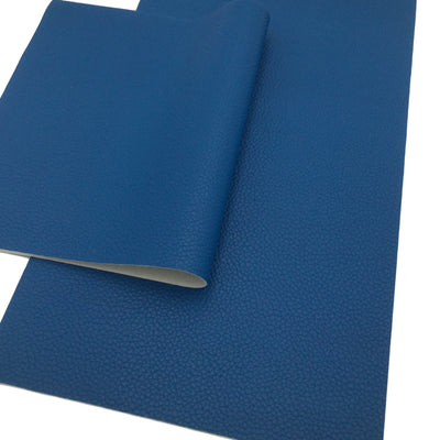 BLUE TEXTURED Faux Leather Sheets, Blue Leather, Leather for Earrings, Fabric Sheet, Textured Leather