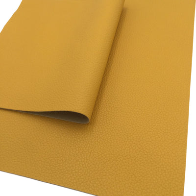 HONEY YELLOW TEXTURED Faux Leather Sheets, Blue Leather, Leather for Earrings, Fabric Sheet, Textured Leather