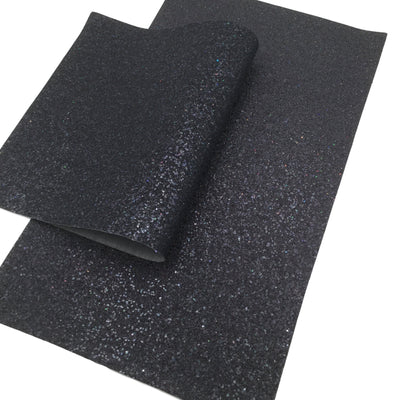 COSMIC BLACK FINE Glitter Canvas Sheets, Premium Chunky Glitter Fabric, Fabric for Bows