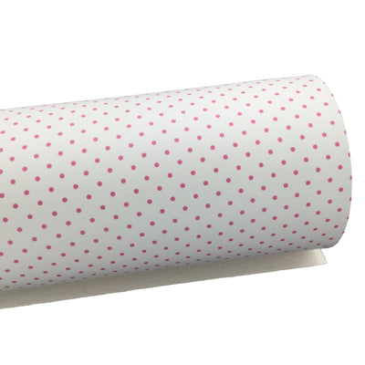 PINK AND WHITE Polka Dot Faux Leather Sheets, Leather Sheets, Exclusive Design, Leather for Earrings