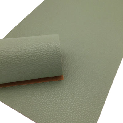 SAGE GREEN Faux Leather Sheets, Leather for Earrings, Litchi Textured Leather 66