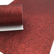 DARK RED Fine Glitter Canvas Sheet, Glitter Sheets, Faux Leather Sheets, Glitter for Earrings, Hair Bow Material