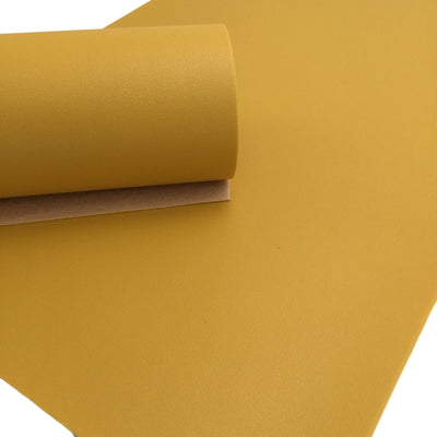 HONEY YELLOW Smooth Faux Leather Sheets, Faux Leather Sheets, Leather for Earrings, Hair Bow Material - 102