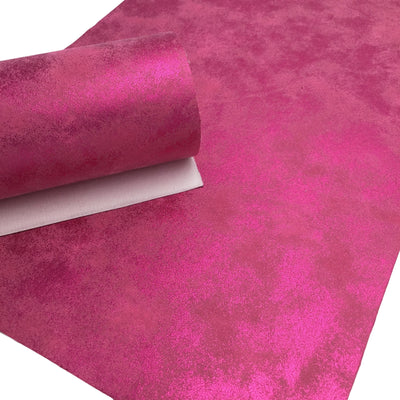 HOT PINK Oil Slick Faux Leather, PU Leather Sheets, Fabric Sheets, Leather for Earrings, 124B