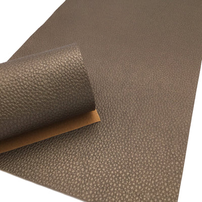 DARK BRONZE Pearl Faux Leather Sheet, PU Leather, Leather for Earrings - 0029