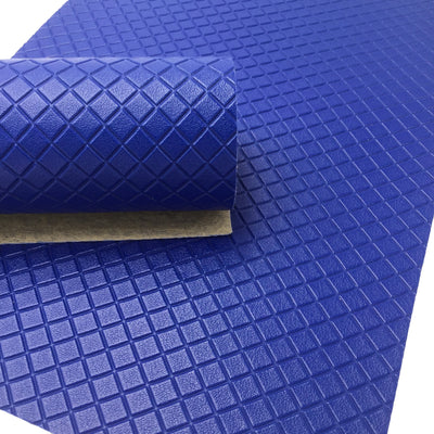 BLUE DIAMOND Faux Leather Sheet, Textured Faux Leather, PVC Leather - 163