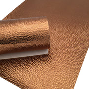 METALLIC COPPER Faux Leather Sheet, PU Leather Sheets, Leather for Earrings - 37