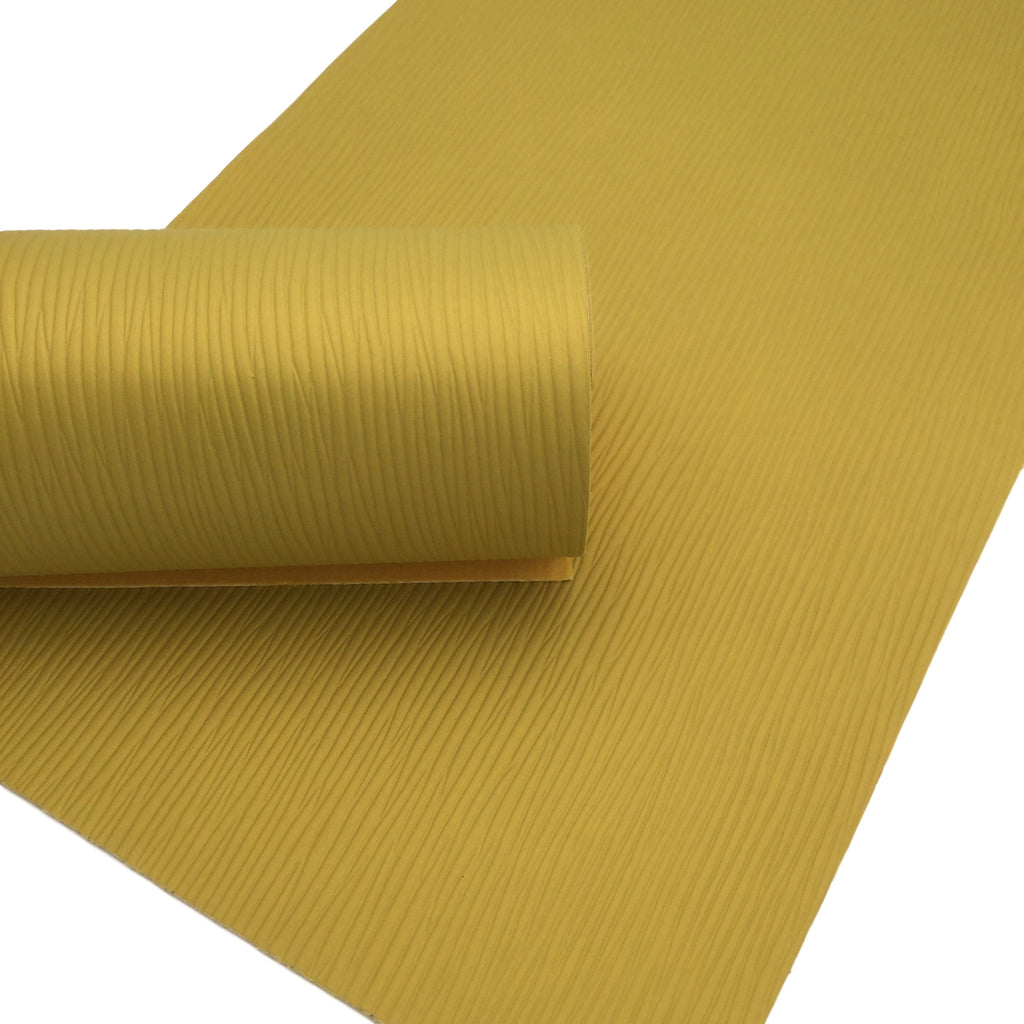 HONEY YELLOW WAVES Faux Leather Sheets, Leather for Earrings, Textured Faux Leather, Material for Hair Bows