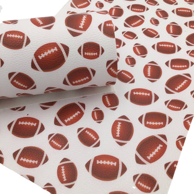 FOOTBALL Textured Faux Leather Sheets, Leather Sheets, Exclusive Design, Leather for Earrings - 1588