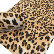 TEXTURED LEOPARD Print Faux Leather Sheet, Textured Faux Leather, Leopard PVC Leather - 819
