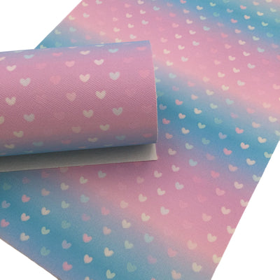 MINI HEARTS Faux Leather Sheets, Valentines Day Faux Leather Sheets, Heart Design, Leather for Earrings