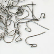 100 Pcs Earring hooks - Gunmetal - Nickel free, lead free and cadmium free earwire - C100