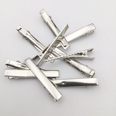"SILVER Alligator Clip With Teeth  2.25"" Inch Set of 20"