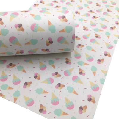 ICE CREAM Smooth Faux Leather Sheets, Leather Sheets, Custom Design, Leather for Earrings
