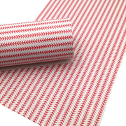 BASEBALL STRIPES Faux Leather Sheets, Leather Sheets, Exclusive Design, Leather for Earrings