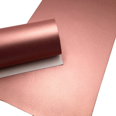 SHIMMERING ROSE GOLD Smooth pvc Leather Sheets, Faux Leather Sheets, Leather for Earrings, Hair Bow Material