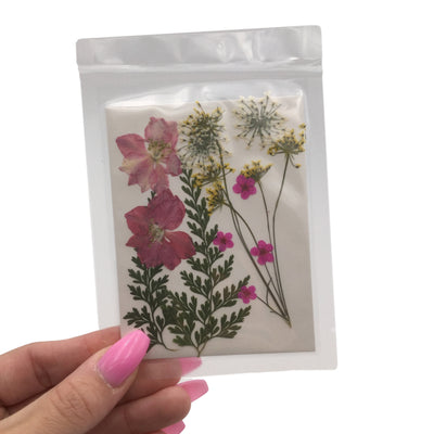 Large Pressed Dry Flowers, Dried Flat Flower Packs, Pressed Flowers For Resin Crafts - 2860