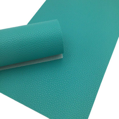 TEAL Pebble Faux Leather Sheet, Teal Blue, Leather Fabric Sheets, PU Leather Litchi Texture