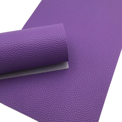 PURPLE Pebble Faux Leather Sheet, Leather Fabric Sheets, PU Leather Litchi Texture - 156