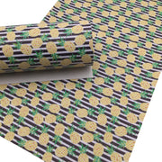 PINEAPPLE STRIPE Faux Leather Sheets, Leather Sheets, PVC Faux Leather, Leather for Earrings - 1610