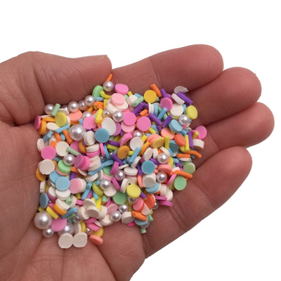 PRINCESS PARTY Sprinkles Mix, Fake Sprinkles with Pearls, Fake Sprinkles, Sprinkles for Slime