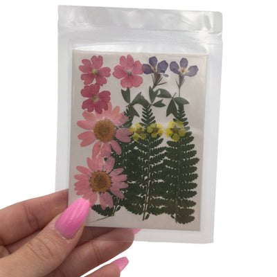 Large Pressed Dry Flowers, Dried Flat Flower Packs, Pressed Flowers For Resin Crafts - 2861