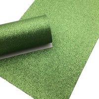 APPLE GREEN Fine Glitter Canvas Sheet, Glitter Sheets, Faux Leather Sheets, Leather for Earrings, Hair Bow Material - 470