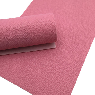 BUBBLEGUM PINK Pebble Faux Leather Sheet, Leather Fabric Sheets, PU Leather Litchi Texture - 46