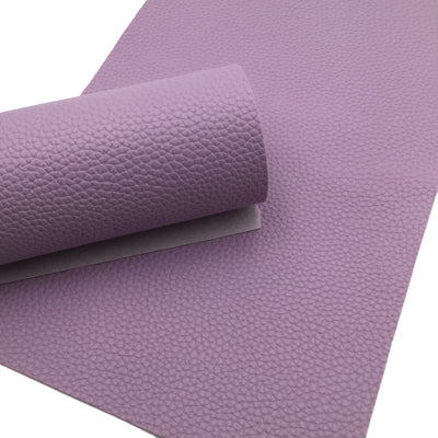 LIGHT PURPLE Pebble Faux Leather Sheet, Leather Fabric Sheets, PU Leather Litchi Texture