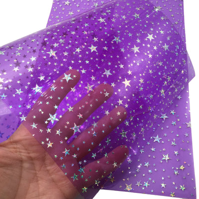 STAR JELLY SHEETS - Purple Jelly Material, Waterproof Jelly Sheets for Hair Bows - 768