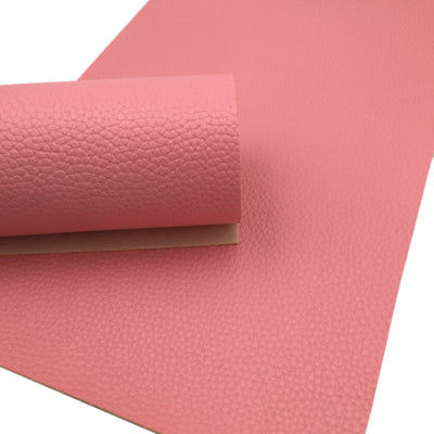 SALMON PINK Faux Leather Sheet, PU Leather, Vegan Leather for Earrings - 0059